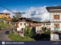 Clocktower Mongar | Eastern Bhutan, Mongar, early morning cloud over town centre Stock ...