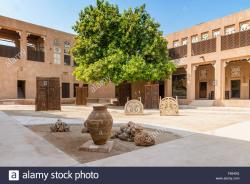 Courtyard Dubai   Courtyard at Traditional Architecture Museum in Heritage area at ...