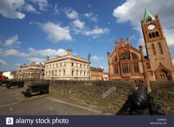 Derry's City Walls Derry (Londonderry) | Derrys walls and the Guildhall Derry city county londonderry ...
