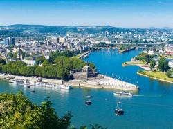 Deutsches Eck Koblenz | The Deutsches Eck Koblenz - Where Father Rhine and Mother Moselle ...