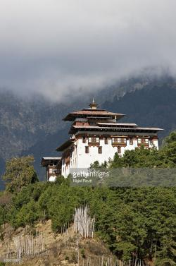 Jakar Dzong Jakar | Bhutan The 17th Century Jakar Dzong Stands In A Commanding ...