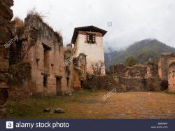 Drukgyel Dzong Drukgyel Dzong | Inner courtyard of ruined Drukgyel Dzong, Bhutan Stock Photo ...