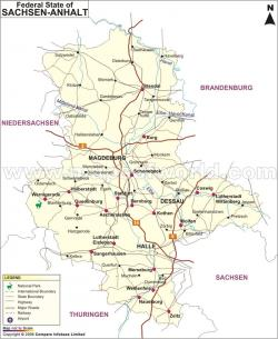 Regional and Button Museum Saxony, Saxony-Anhalt and Thuringia | Anhalt Map