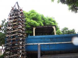 Environmental Enforcement Museum Puerto Princesa | Seized chainsaws now a Christmas tree ~ HUMAN FACE by Ceres