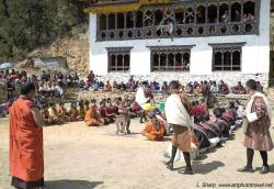Festival Ground Paro | artphototravel » Paro Tsechu and other Bhutan highlights