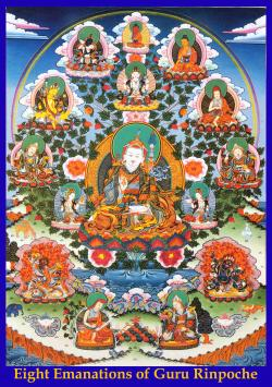 Footprint of Padmasambhava Nako | As oito emanações de Guru Rinpoche | Deities and Tangkas ...