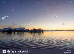 Fraueninsel The Bavarian Alps | Chiemsee with the Fraueninsel and the Alps at sunset, Germany ...