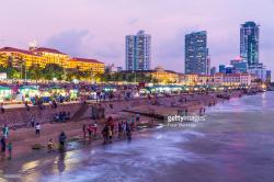 Galle Face Green Colombo | Galle Face Green At Sunset Colombo Sri Lanka Stock Photo | Getty ...