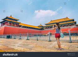 Gallery@Temple Běijīng | Woman Taking Mobile Phone Picture Beijing Stock Photo 649757224 ...