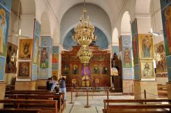 Greek Orthodox Church of St. George Side Trips from Amman | Day tours from Amman in Jordan. Trip to Mount Nebo, Madaba and Kerak.