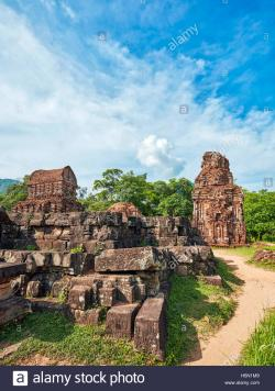 Group B My Son | Ancient temple ruins of Group B. My Son Sanctuary, Quang Nam Stock ...
