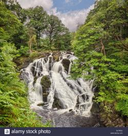 Gwydyr Forest and Swallow Falls North Wales | Swallow Falls in Betws y Coed North Wales during an autumn morning ...