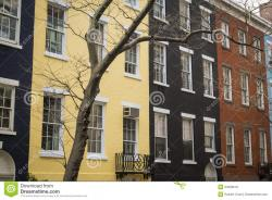 Harbor Defense Museum New York City | Colorful Apartment Buildings, New York City Royalty Free Stock ...