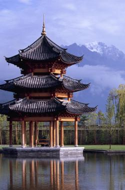 Heavenly Lake The Silk Road | A complex of traditional style Chinese bungalows nestled into the ...