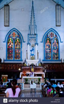 Immaculate Conception Cathedral Kon Tum | Immaculate Conception Cathedral Stock Photos & Immaculate ...