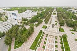 Independence Square Ashgabat | Royalty Free Stock Photograph : View over Independence Square and ...