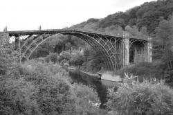 Iron Bridge Black River | Ironbridge in Black & White | photo page - everystockphoto