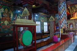 Jamchen Lhakhang Bodhnath (Boudha)   Boudhanath 10-4 Inside Jamchen Gompa Has A Drum, Murals On The ...
