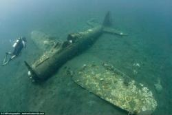 Japanese Aircraft Wrecks Around Rabaul | Lost WW2 fighter planes are discovered off of the Solomon Islands ...