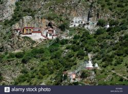 Jianguomen Beijing | Tibetan Chorten, stupa and monastery in the Drak Yerpa rock ...