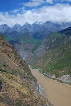 Karakorum Highway The Silk Road | Tiger Leaping Gorge In Southwest China Royalty Free Stock ...