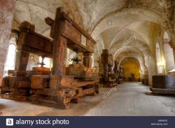 Kloster Eberbach The Rhineland | Old wine cellar at Kloster Eberbach Stock Photo, Royalty Free ...