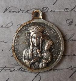 Księży Młyn Excursions from Warsaw | Very Fine Vintage Italian Holy Medal Our Lady Of Czestochowa Or ...