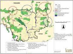 Kulen Promtep Wildlife Sanctuary Preah Vihear Province | Protected area review > Cambodia > Map of protected areas