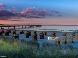 Schweriner Dom Schleswig-Holstein and the Baltic Coast | Beach Chairs On The Beach At Dusk Bay Of Lubeck Baltic Sea ...
