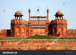 Lal Qila (Red Fort) Delhi | Architectural Detail Lal Qila Red Fort Stock Photo 108036137 ...