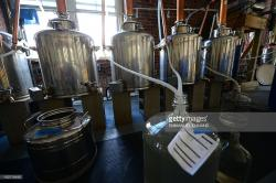 Late Night with Jimmy Fallon New York City   Whiskey making stills produce at the Kings County Distillery, New ...