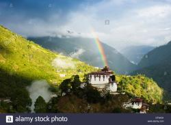 Lhuentse Dzong Lhuentse | Bhutan, South Asia, Lhuentse Dzong fortress monastery with ...