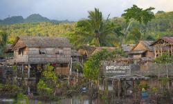 Lilisiana Auki & Around | Lilisiana Stilt Village Stock Photo | Getty Images