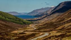 Loch Maree The Northern Highlands and the Western Isles | Photographs and map of Slioch above Loch Maree in the North West ...