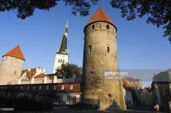 Lower Town Wall Tallinn | Estonia Tallinn Lower Town City Wall Towers And St Olav Church ...
