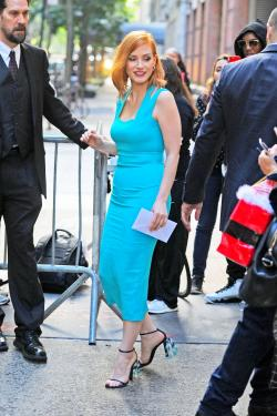Luna Park New York City | Jessica Chastain at 'Live! with Kelly and Michael' in New York ...