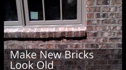 Makung Old Wall Makung | Bill's Construction Tip, Make your new bricks look old - YouTube