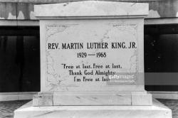 Peachtree Center Atlanta | MLK Crypt Inscription Pictures | Getty Images