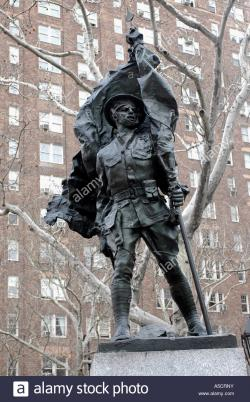 Matthew Marks Gallery New York City | The Abingdon Square Doughboy statue in Greenwich Village Stock ...