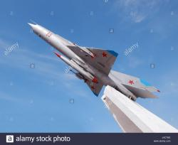 MiG Fighter Plane Aktau | Monument to the aircraft fighter. The city of Aktau. Kazakhstan ...