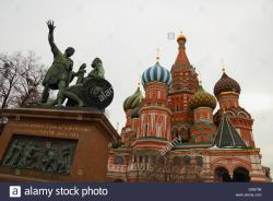 Minin and Pozharsky statue Moscow | STATUE OF MININ AND POZHARSKY RED SQUARE, MOSCOW Stock Photo ...