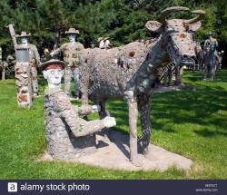 Mohave Museum of History and Arts Northwest Arizona | Fred Smith's Concrete Park in Phillips Wisconsin Stock Photo ...