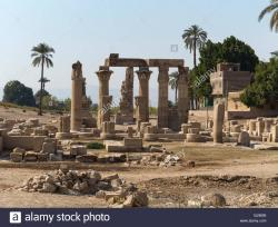 Montu Temple Enclosure Luxor | The Temple of the falcon-headed god Montu at Medamud, North of ...