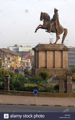 Monument Adwa | Statue of Emperor Menelik on a horse erected following victory ...