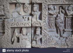 My Son Museum My Son | My Son frieze in Cham Museum, Da Nang, Vietnam Stock Photo ...