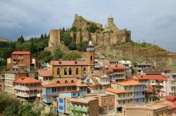 Narikala Fortress Tbilisi   Old Tbilisi with the mosque , Narikala fortress and St. Ni…   Flickr