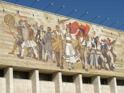 National History Museum Tirana | The Albanians' Mosaic on National Historical Museum, TiranaLeft ...