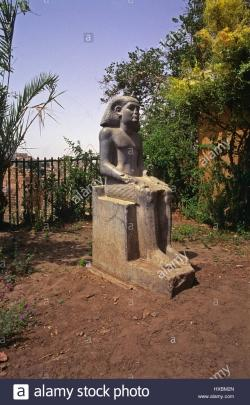 Nile Museum Aswan | Elephantine Island Aswan Egypt museum open air garden seated ...