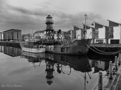 North Carr Lightship Fife and Angus | Black & White/Monochrome Photography – Eye For A Pic