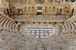 North Theatre Jerash | North Theater In Ancient City Of Jerash, Jordan Stock Photo ...